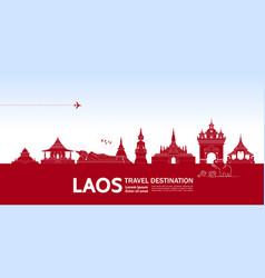 Laos travel destination vector