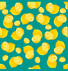 Lemon fruit seamless pattern abstract repeated vector