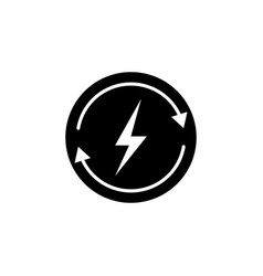 lightning arrow icon on white background can be vector image
