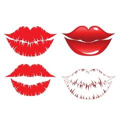 Lips kiss vector