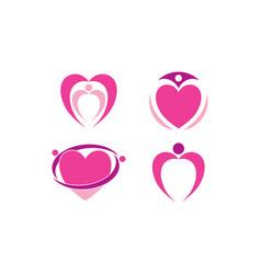 love logo template vector image
