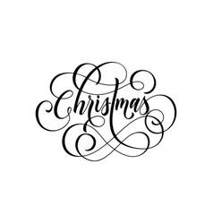 merry christmas flourish hand drawn swash vector image