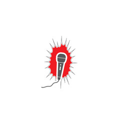 mixrophone icon vector image