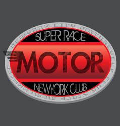 motorcycle club new york racing motorcycle vector image