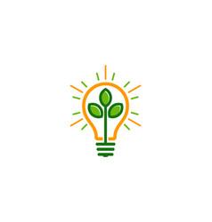 nature idea logo icon design vector image