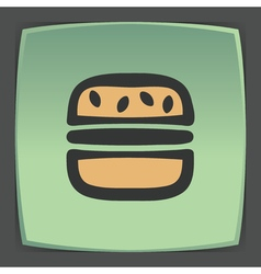 Outline hamburger fast food icon Modern vector