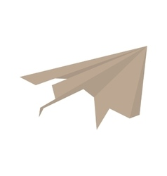 Paper plane origami modeling creative vector