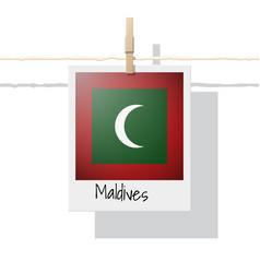 Photo of maldives flag vector