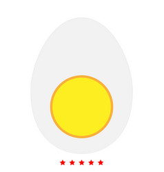 piece egg icon flat style vector image