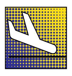 plane landing 01 vector image