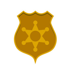 police badge icon image vector image