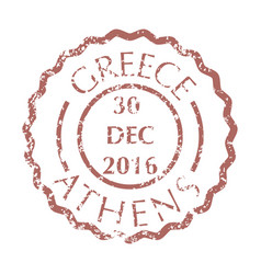 Postal stamp from athens vector