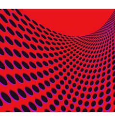 Red rounds background vector image