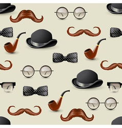 Retro seamless with mustaches vector