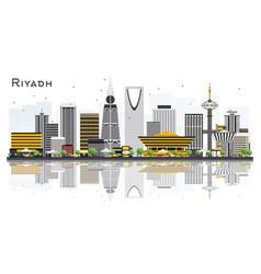 Riyadh saudi arabia city skyline with gray vector