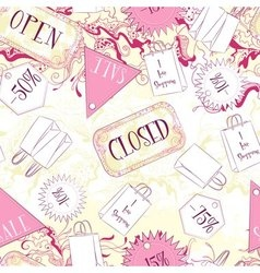 Seamless pattern with open closed signs and vector image