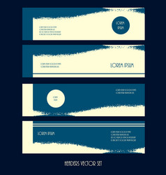 set of horizontal headers web vector image