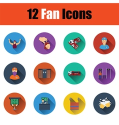 Set of twelve soccer icons vector