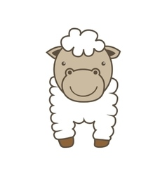 Sheep cartoon icon Animal farm design vector