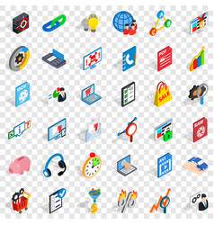 Shield cloud icons set isometric style vector