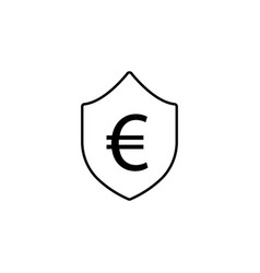 shield euro icon element of finance signs and vector image