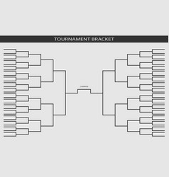 soccer baseball tournament bracket for your desig vector image