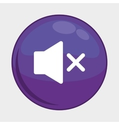 Sound button icon Social media design vector