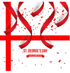 St georges day celebrate template design vector
