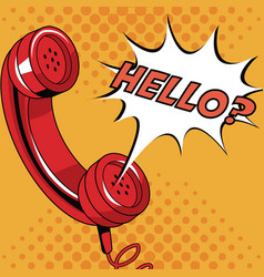 Telephone pop art cartoon vector