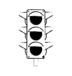 traffic light sign icon vector image