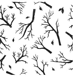 tree branch and twigs pattern vector image