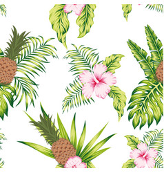 Tropical botanical seamless pattern exotic design vector