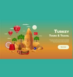 Turkey tourism composition vector
