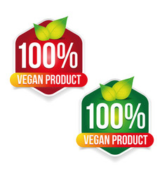 vegan product label sign green vector image