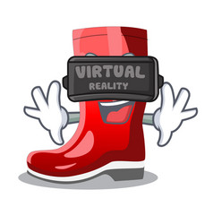 Virtual reality narcissus with garden boots on vector
