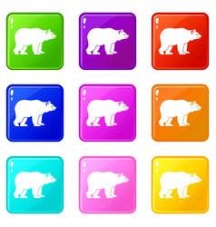 bear set 9 vector image vector image