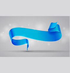 blue curved ribbon or banner vector image