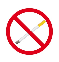 Cigarette stop sign vector image vector image