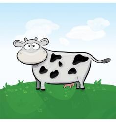 cow in field vector image vector image