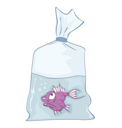 cute aquarium fish cartoon vector image vector image