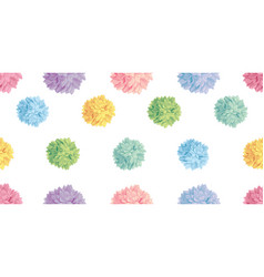 Cute pastel colorful birthday party paper vector
