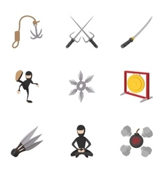Killer icons set cartoon style vector image vector image