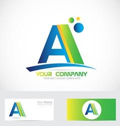 Letter a green blue logo vector