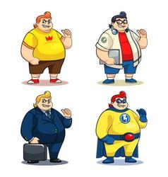 Mr Bigger Characters vector image