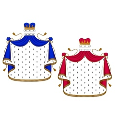 Blue and purple royal mantles vector image vector image