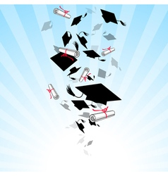 Caps Graduates Whirlwind in the Sky vector image vector image