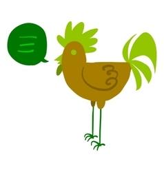 Cartoon hen flat mascot icon vector image vector image