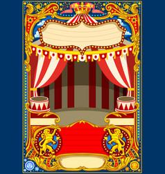 circus cartoon decoration vector image vector image