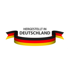 made in germany colored ribbon german tricolor vector image