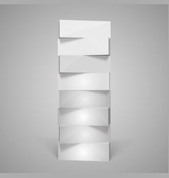 vertical rectangular pyramid vector image vector image